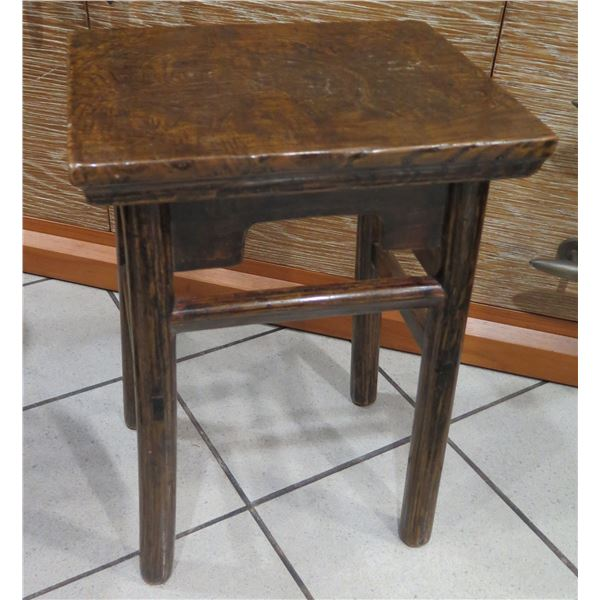 """Distressed Lacquered Wooden Side Table 15""""x12""""x21"""" H"""