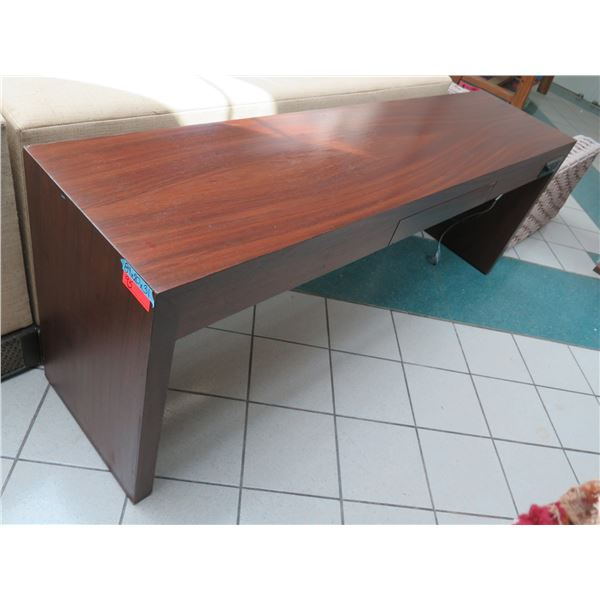 """Wooden Console Table w/ Drawer & Outlet 84""""x20""""x31""""H (some surface wear & tear)"""