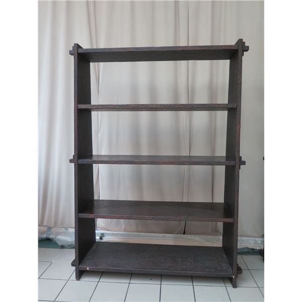 """Very Tall Large Wooden 4-Tier Shelving Unit 66"""" X 22"""" X 90""""H"""