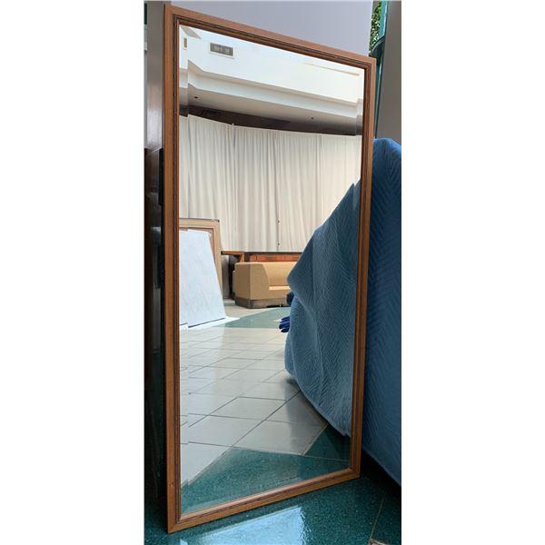 "Full Length Wood-Framed  Wall Mirror 24"" x 54"""