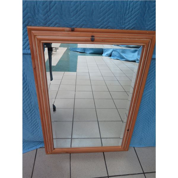 """Solid Natural Pine Wood Mirror 30"""" x 43"""""""