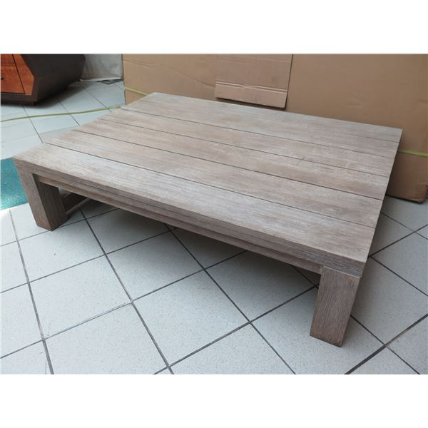 """Large Solid Wood Coffee Table, Distressed Finish 55""""x39""""x14""""H"""