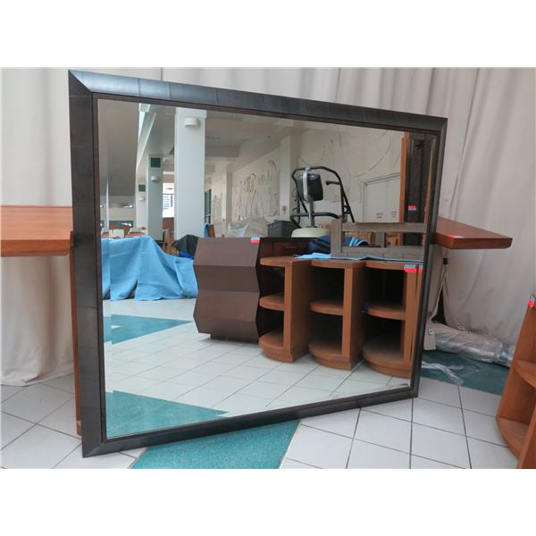 """Very Large Wood-Framed Wall Mirror, Roma 2012, Made in Italy 80"""" X 69"""""""