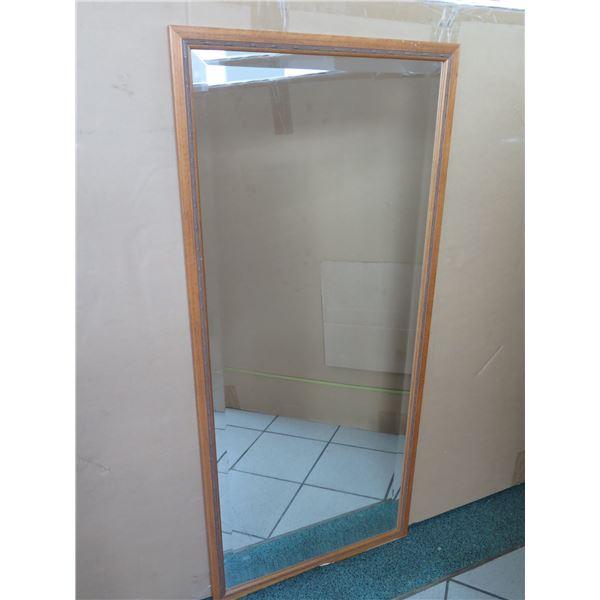 """Larsen Juhl Full Length Wood-Framed Wall Mirror 24"""" X 54"""""""