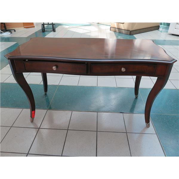 "Liz Claiborne Home Wooden Desk w/ 2 Drawers 56"" X 28"" X 31""H"