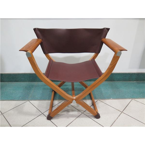 """Hermes Pippa Folding Leather Chair - Excellent Condition 34"""" X 19"""" X 33H"""