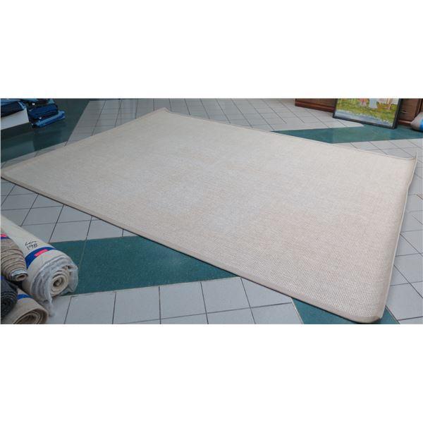 Restoration Hardware 14ft X 10ft, Wool & Sisal Area Rug, 100% Linen Binding, Belgium