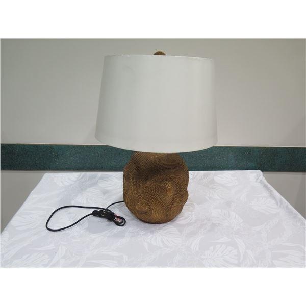 "Bronze-Tone Ceramic Lamp w/ Shade 24""H"