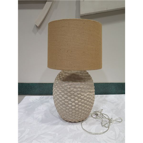 "Textured Ceramic Lamp w/ Textured Lampshade, Approx. 29"" H"