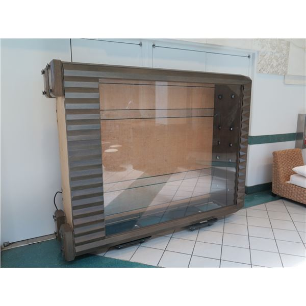 "Very Tall, Large Display Case, Approx. 72""W x 24""D x 101"" Tall (picture shows it laying on its side)"