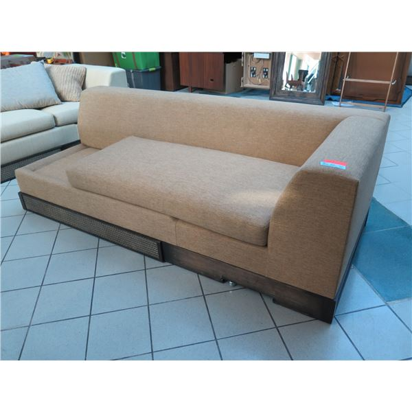 Sofa Section, Light Brown, Incomplete - Missing Seat Cushion