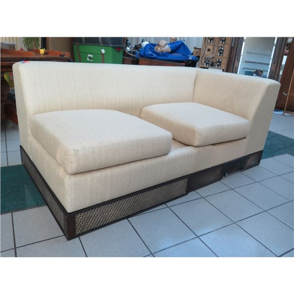 Sofa Section, Cream, Incomplete - Missing Seat Cushion