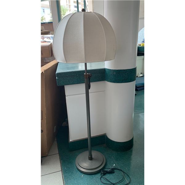 "Floor Lamp w/ Lampshade 64"" Tall (light dirt smudges on shade)"