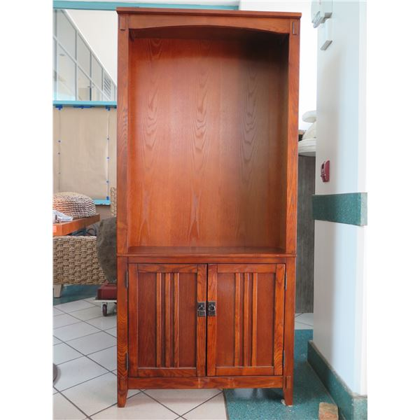 """Tall Shelving Unit w/ Cabinet, Approx. 34"""" X 11"""" X 75""""H"""