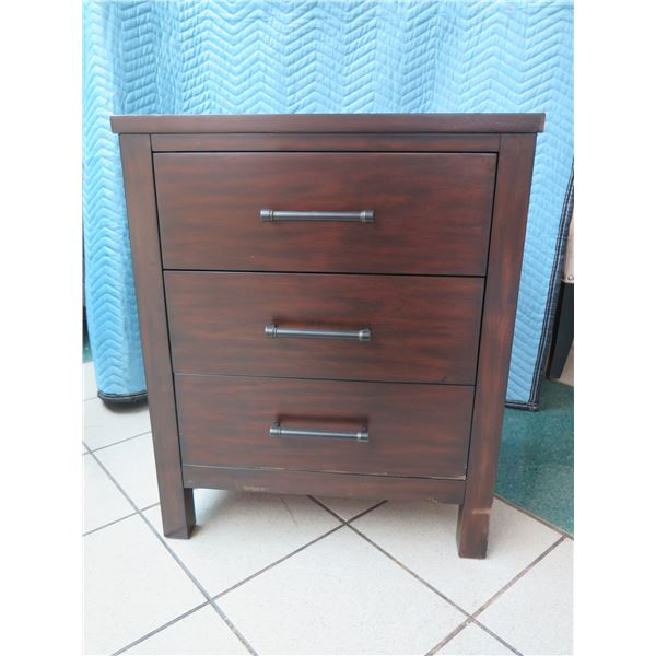 "Wooden Chest w/ 3 Drawers 25"" X 19"" X 31""H"
