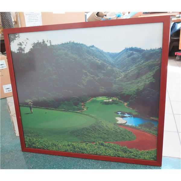 "Framed Photo Print - Lodge at Koele Golf Course (Greg Norman) Signature Hole 40"" X 32"""