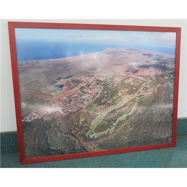 "Framed Photograph Print - Lanai City, Aerial 40"" X 32"""