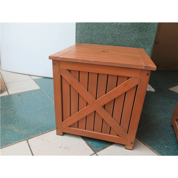 Wooden Umbrella Stand/Storage Box, Has General Wear and Tear