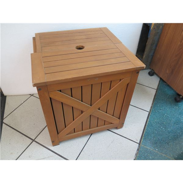 Wooden Umbrella Stand/Storage Box, Damaged Top Section