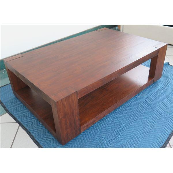"New Large Bernhardt ""Lodge"" Cofee Table 56"" X 36"""
