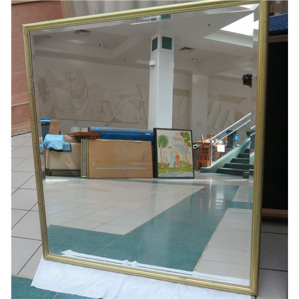 """Large Gold-Tone Framed Mirror 45"""" x 52"""""""