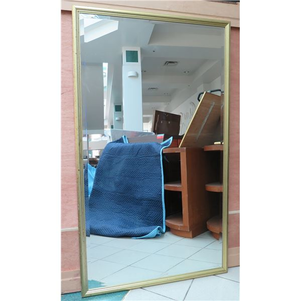 """Large Gold-Tone Framed Mirror 36"""" x 74"""""""