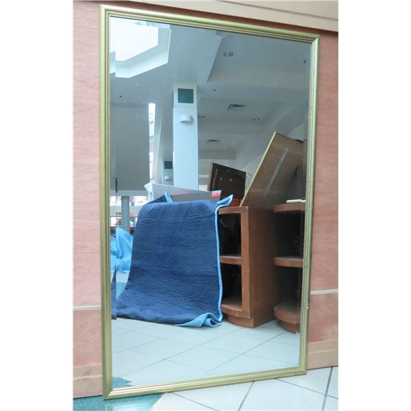 """Large Gold-Tone Framed Mirror 36"""" x 60"""""""