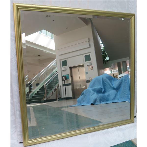 """Large Gold-Tone Metal Frame Mirror 36"""" x 36"""""""