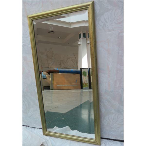 "Gold-Tone Framed Mirror 18"" x 37"""
