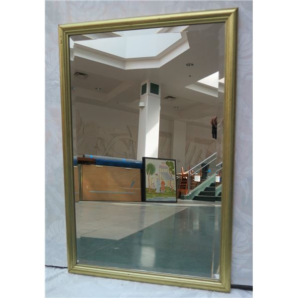 """Small Gold-Tone Framed Mirror 24"""" x 36"""""""