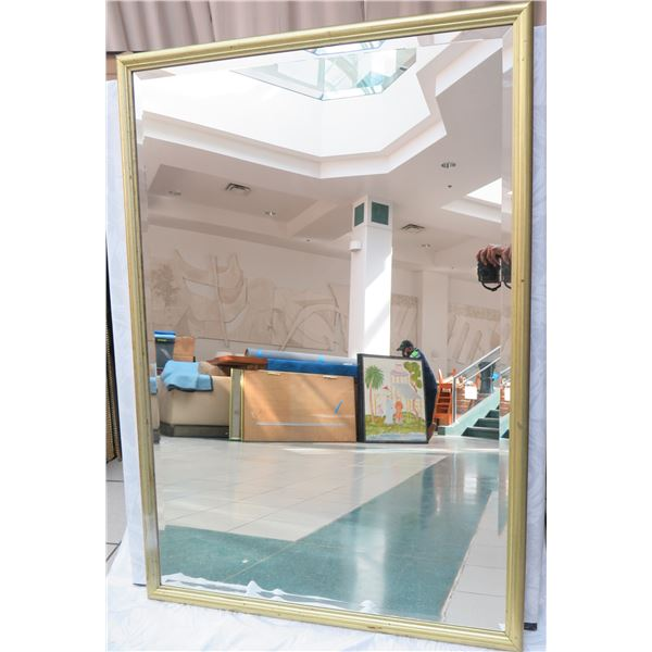 """Large Gold-Tone Framed Mirror 36"""" x 52"""""""