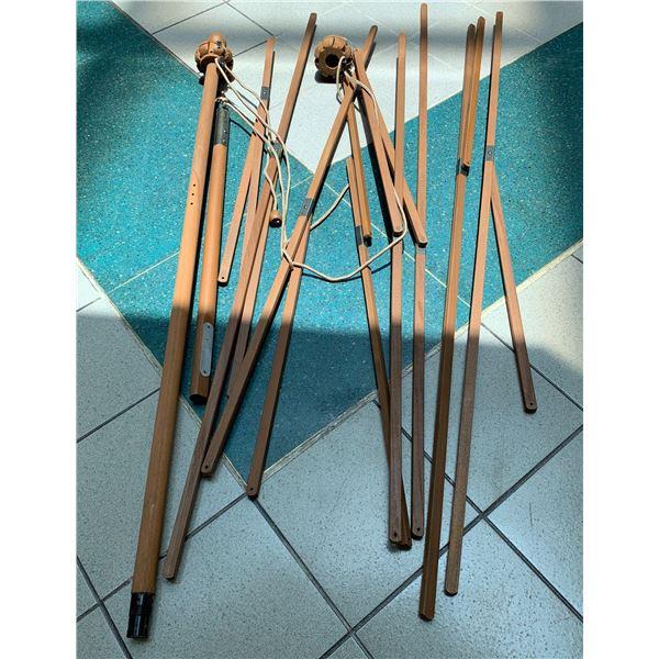 Pottery Barn Teak Market Umbrella Pole, Appears Unused, Not Sure if Complete