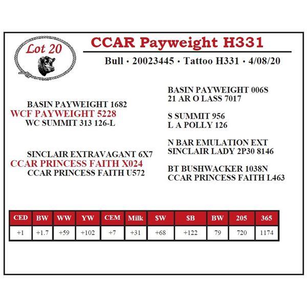 CCAR Payweight H331