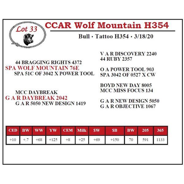 CCAR Wolf Mountain H354