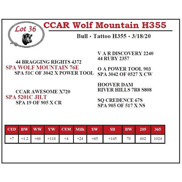 CCAR Wolf Mountain H355