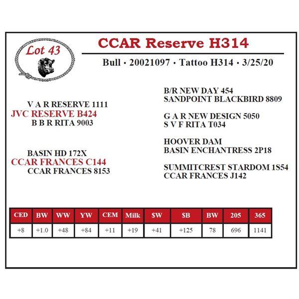 CCAR Reserve H314