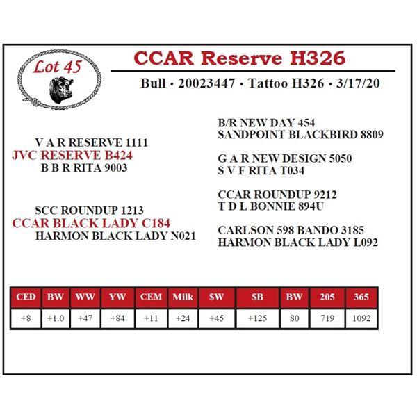CCAR Reserve H326