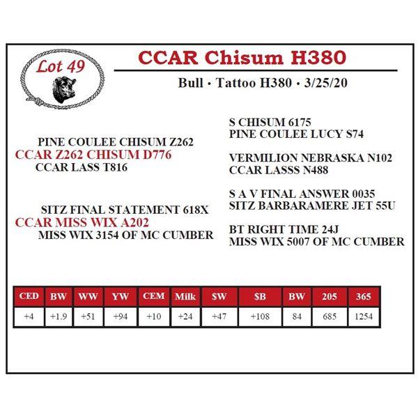 CCAR Chisum H380