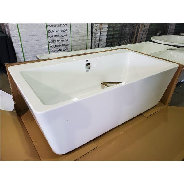 ACRITECH OPULENCE FREESTANDING DEEP SOAKER BATHTUB