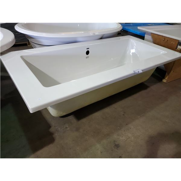 ACRI-TECH DEEP SOAKER BATHTUB WITH SIDE OVERFLOW AND CENTER DRAIN