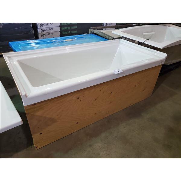 VENCO LH DRAIN DEEP SOAKER BATHTUB