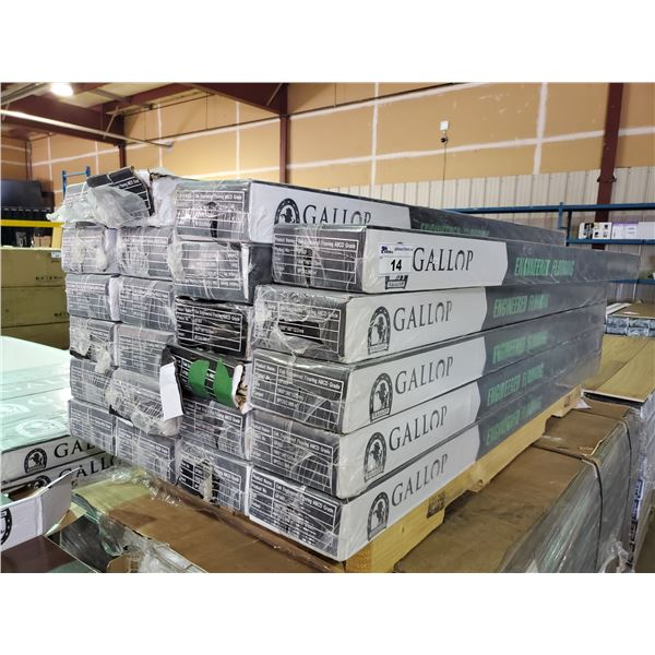 23 BOXES OF GALLOP 12MM OAK ENGINEERED FLOORING