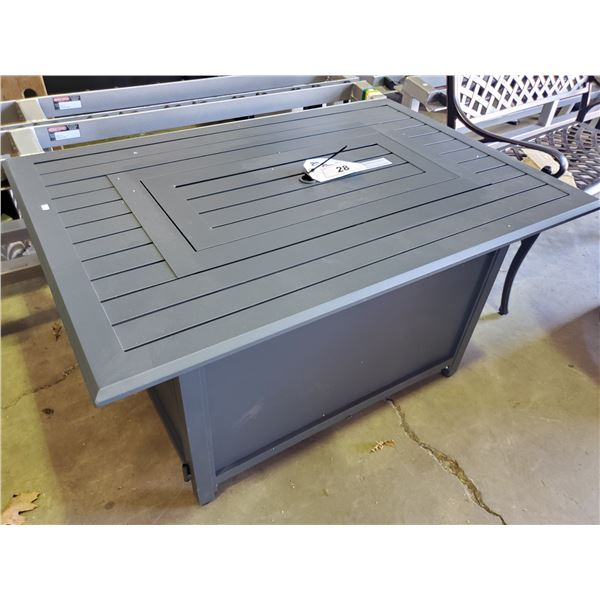 PARAMOUNT FP-341-GY GALE RECTANGLE ALUMINUM CONVERTIBLE FIRE TABLE GREY