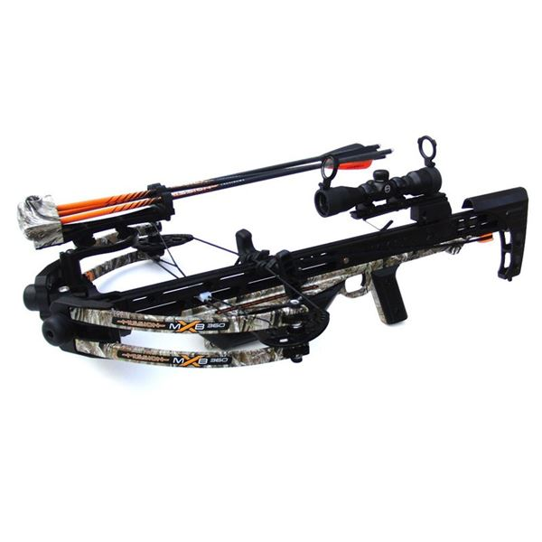 Mission X-MXB 360 Crossbow with accessories & Bohning accessories, New!