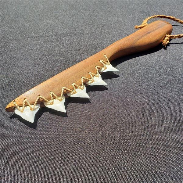 Hawaiian Shark Tooth Knife & Niho Oki Hand Crafted by Lynn Gephart
