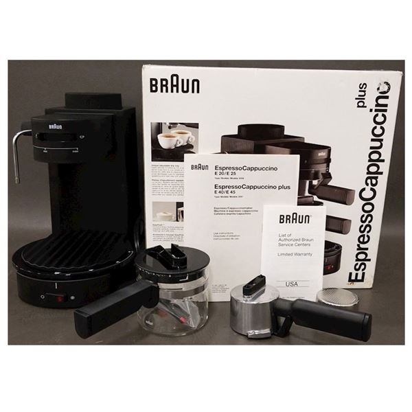 New Braun E40 Espresso Cappuccino Plus & Kitchen Accessories