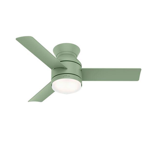 """New Hunter Fan Co. 50019 44"""" Dublin Ceiling Fan with Dusty Green Finish"""