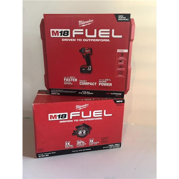 New Milwaukee M18 Fuel: 1/4'' Hex Impact Driver & 6 1/2'' Circular Saw
