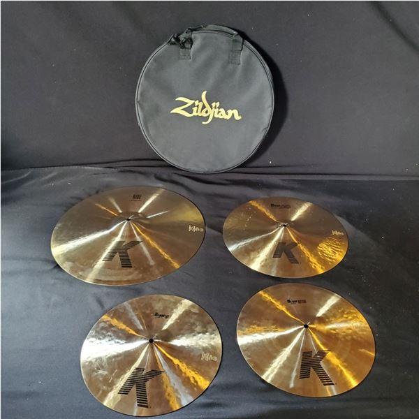 Zildjian K Custom Dry Cymbals 14'' Hi-Hats, 16'' Crash, 20'' Ride & Bag!