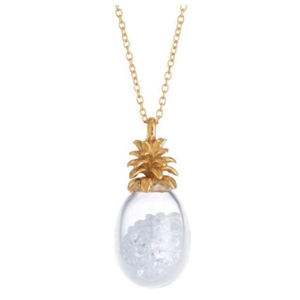 New Catherine Weitzman Pineapple Shaker & Sea Turtle Necklace